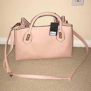 F21 light, baby pink crossbody handbag